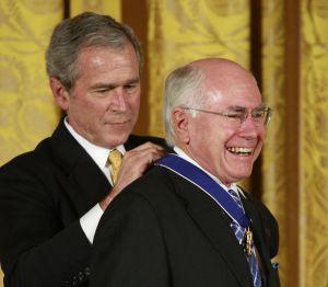 John Howard receiving the US Presidential Medal of Freedom